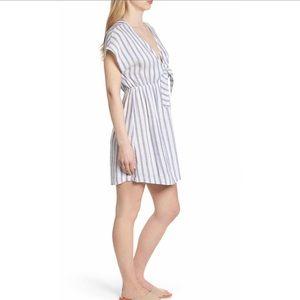 Rails Dresses - Rails Striped Tie Front Dress Large B108